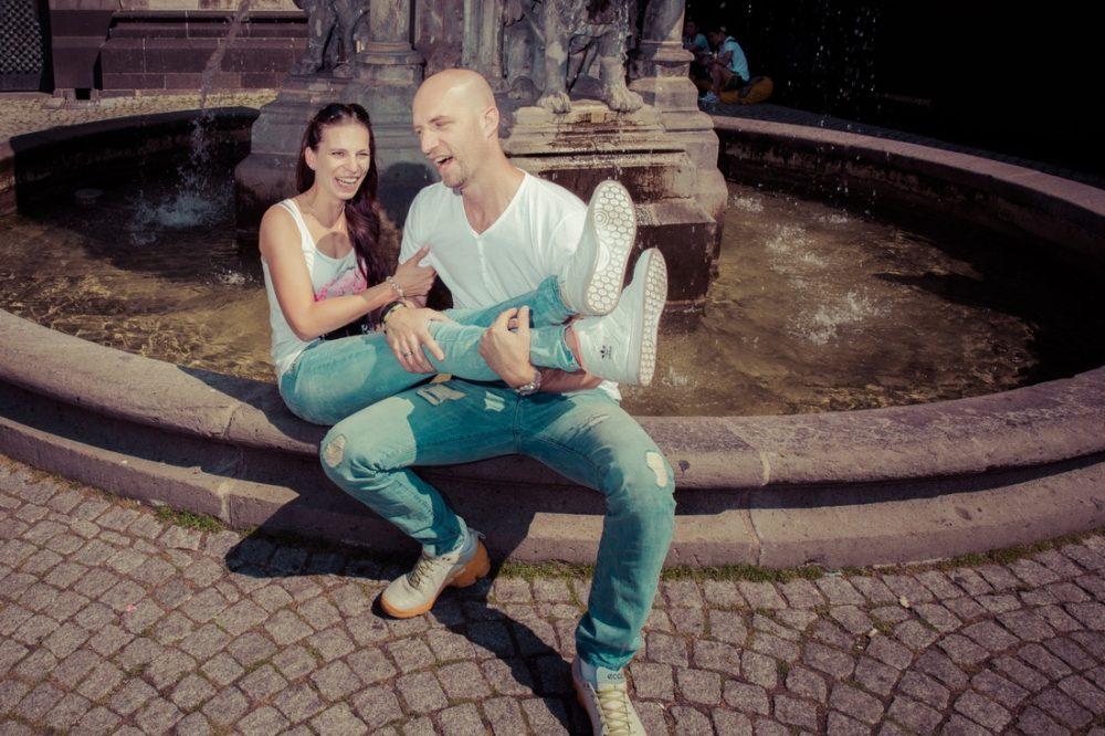 Angelique und Oliver, Fotoshooting Köln